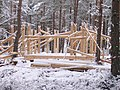 Construction of community log cabin in School woods Farr - geograph.org.uk - 262375.jpg