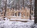 Construction of community log cabin in School woods Farr - geograph.org.uk - 262375.jpg