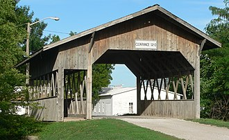 Cook, Nebraska - The 1989 Duane Carman bridge in Cook is the only covered bridge in Nebraska.