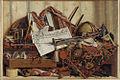 Cornelius Norbertus Gijsbrechts (1657-1683), Trompe l'oeil med trompet, himmelglobus og Frederik III's proklamation, 1670 KMSst461.jpg