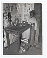 Corner of room of living quarters provided for Negro strawberry pickers near Independence, Louisiana, April 1939.jpg