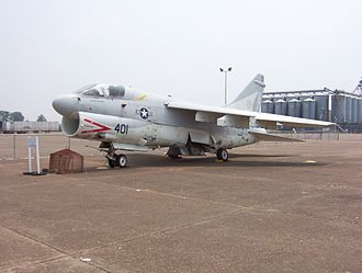 Lauderdale County, Tennessee - A-7 Corsair II in front of the Veterans' Museum in Halls (2006)