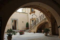 Cortile interno di Palazzo Panitteri