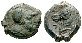 October Horse - Coin with Mars and a bridled horse (Cosa, Etruria, 273-250 BC)