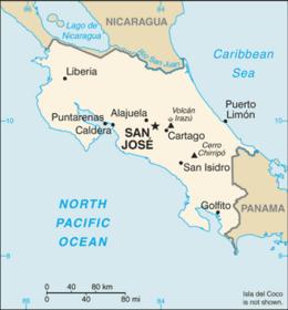 Costa Rica - Mappa
