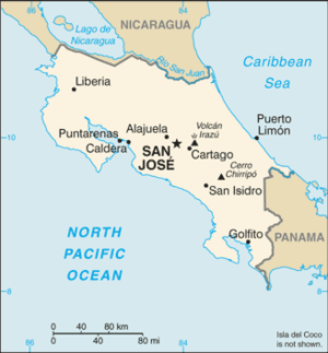 Outline of Costa Rica - An enlargeable basic map of Costa Rica