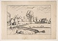 Country Houses, couple and cornfield in the foreground, from the series The Small Landscapes (Praediorum Villarum) MET DP818231.jpg