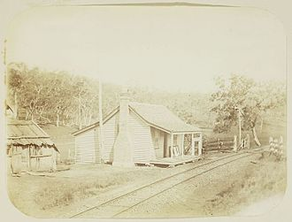Cranley, Queensland - Cranley (formerly Bremmers Gate) on the railway line from Toowoomba to Warwick, 1897.jpg