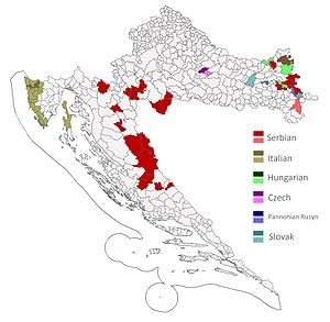 Linguistic rights - Minority languages in Croatia (official use at local level)
