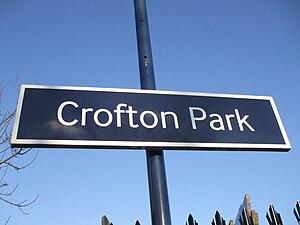 Crofton Park - Image: Crofton Park stn signage