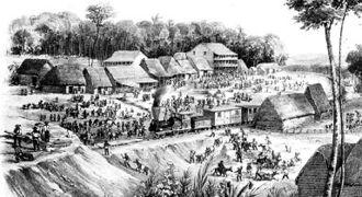 Panama Canal Railway - Railway at Culebra Summit Station, 1854