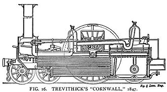 LNWR 2-2-2 3020 Cornwall - As in 1847, sectioned