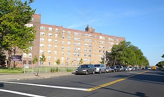 Fountain Avenue - Public housing along Fountain Avenue