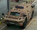 Czech police armored vehicle in Václav Havel Airport Prague.jpg