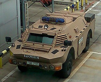 Police of the Czech Republic - Armoured police vehicle in Prague Airport