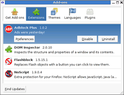 D.Iceweasel 3.0.6 Add-ons--Knoppix6.0.1.png