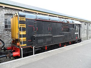 History of rail transport in Great Britain 1995 to date - Image: D3551 Class 08 at Swanage Station