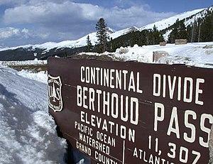 Berthoud Pass - View from the summit of Berthoud Pass