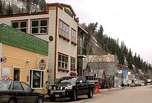 Red Cliff, Colorado - View along the main street in Red Cliff