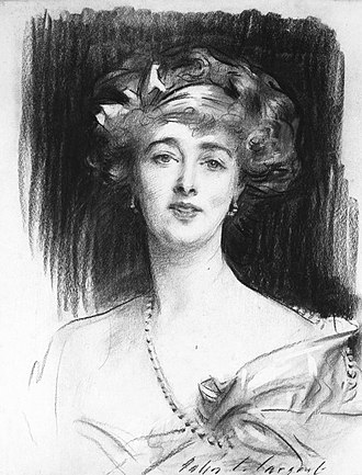 Daisy, Princess of Pless - Undated sketch of Daisy by John Singer Sargent