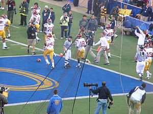 2009 USC Trojans football team - Damian Williams (no. 18) after returning a 66-yard punt for a touchdown.