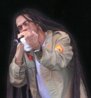 Photograph of Damian Marley. source: eigen wer...