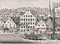 Dampfschiff Republikaner vor Hotel zu den drei Königen Richterswil, zwischen 1833 und 1864.jpg