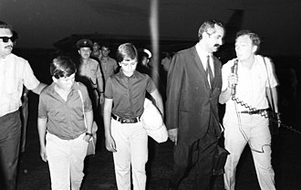 Passengers from the hijacked TWA plane arrive at Lod. Dan Hadani collection (990048214780205171).jpg