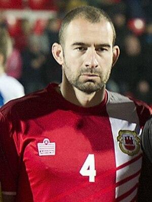 Danny Higginbotham - Higginbotham with Gibraltar in 2014
