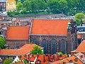 Danzig - Blick von der Marienkirche auf die St. Joseph Kirche - Widok z kościoła Mariackiego na św Józefa - panoramio.jpg