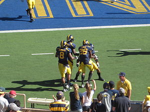 2010 California Golden Bears football team - Cal defensive back Darian Hagan scores an 81-yard interception return for a touchdown.