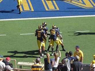 2010 California Golden Bears football team - Cal defensive back Darian Hagan scores an 81-yard interception return for a touchdown.