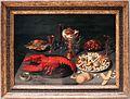 David rijckaert II, natura morta con nautilo, aragosta, frutti di mare e dolcetti 01.JPG