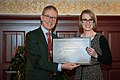 De Zeeuw-Van Dishoeck Graduation Prize for Astronomy 2017 Awarded to Laura Driessen (38027123604).jpg