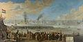 De zeeslag bij Livorno, 14 maart 1653, gebeurtenis uit de Eerste Engelse Zeeoorlog Rijksmuseum SK-A-1391.jpeg