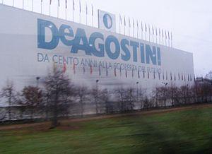 De Agostini - Establishment in Novara, as seen from the Autostrada A4 motorway
