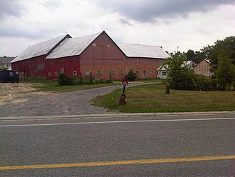 Bridlewood, Ottawa - Deevy Farm, (Bridlewood, Kanata, Ontario, Canada) as seen from Equestrian Drive.