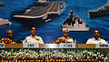 Defence Secretary RK Mathur, CNS Admiral RK Dhowan, CWP&A Vice Admiral AV Subhedar and VCNS Vice Admiral S Lanba.JPG