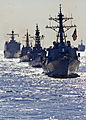 Defense.gov News Photo 101210-N-2885V-025 - U.S. Navy and Japan Maritime Self-Defense Force ships are underway in formation during Keen Sword 2011 in the Philippine Sea on Dec. 10 2010. Keen.jpg