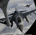 Defense.gov News Photo 110426-F-HE010-067 - An F-16 Fighting Falcon aircraft approaches a KC-135 Stratotanker aircraft for in-flight refueling during Exercise Red Flag-Alaska 11-1 over.jpg