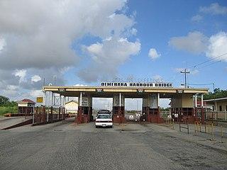 Demerara Harbour Bridge bridge in Guyana