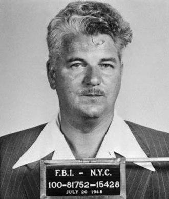 CIO-PAC - FBI mugshot of Eugene Dennis (1948)