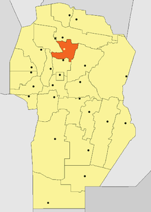 Location of Totoral Department in Córdoba Province