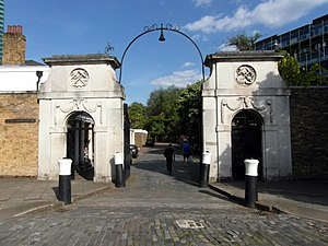 HM Victualling Yard, Deptford - The Main Gate to the former Victualling Yard