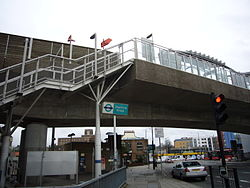 Deptford bridge entrance.JPG