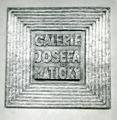Deska s napisem Galerie Josefa Matičky.tif