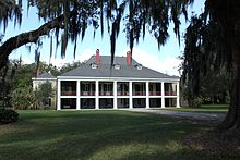 The Main House At Destrehan Sugar Plantation In Louisiana Built 1787 1790 French Colonial Style Original Slender Wooden