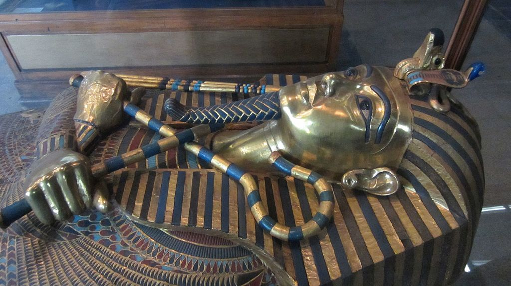 Detail of Tutankhamun's middle coffin