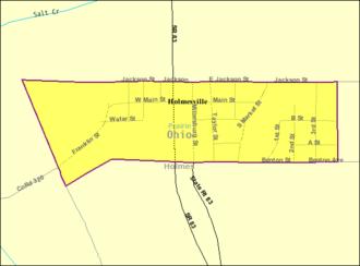 Holmesville, Ohio - Image: Detailed map of Holmesville, Ohio
