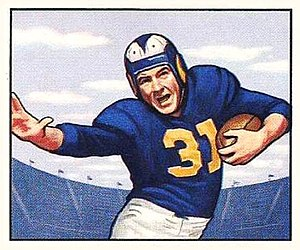 Dick Hoerner - Hoerner on a 1950 Bowman football card